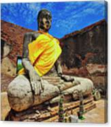 Finding, Not Seeking At Wat Worachetha Ram In Ayutthaya, Thailand Canvas Print