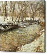 Fine Creek Winter Canvas Print