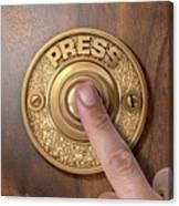 Finger Pressing Doorbell Canvas Print