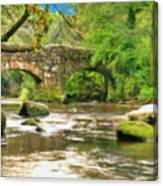 Fingle Bridge - P4a16013 Canvas Print