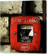 Fire Alarm Canvas Print