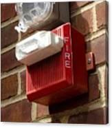 Fire Alarm Horn And Strobe Canvas Print