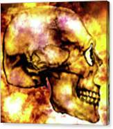 Fire And Skull Canvas Print