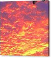 Fire Clouds Canvas Print