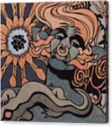 Fire Elemental, Metallic Canvas Print
