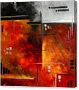 Fire Hazard Original Madart Painting Canvas Print