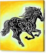 Fire Horse 3 Canvas Print