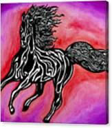 Fire Horse Burn 4 Canvas Print