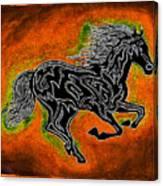 Fire Horse Neona 4 Canvas Print