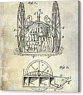 Fire Hose Cart Patent Canvas Print