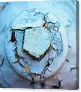 Fire Hydrant Pentagon Canvas Print