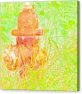 Fire Hydrant Watercolor Canvas Print
