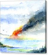 Fire in the Mountains Canvas Print