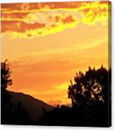 Fire In The Sky 1 Canvas Print