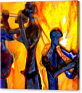 Fire Music Canvas Print