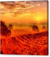 Fire Of A New Day Canvas Print