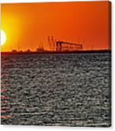Fire On The Water Canvas Print