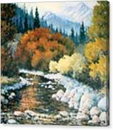 Fire River Canvas Print