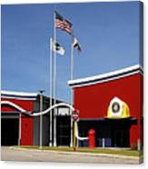 Fire Station Disney Style Canvas Print