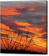 Fire Sunrise Canvas Print
