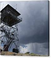 Fire Tower On Bald Mountain Surrounded Canvas Print
