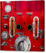 Firetruck Auxiliary Pump Controls Canvas Print