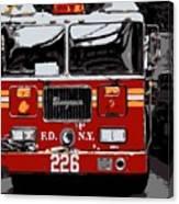 Fire Truck Color 6 Canvas Print