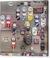 Fire Truck Controls Canvas Print