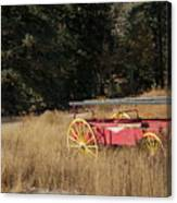 Fire Truck Crossing Canvas Print