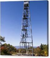 Fire Watch Tower Overlook Mountain Canvas Print