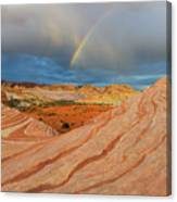 Fire Wave Rainbow Dawn Canvas Print