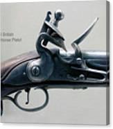 Firearms 1746 British Flintlock Horse Pistol Canvas Print