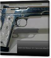 Firearms Smith And Wesson 1911 Semi Auto 45cal Pearl Handle Pistol Canvas Print