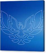 Firebird Blueprint Canvas Print