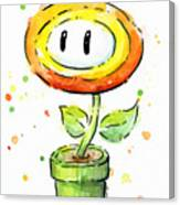 Fireflower Watercolor Canvas Print
