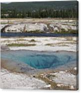 Firehole River And Pool Canvas Print