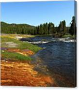 Firehole River Colors Canvas Print