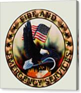 Fireman - Fire And Emergency Services Seal Canvas Print
