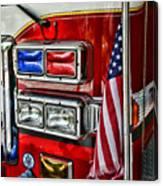 Fireman - Fire Truck Canvas Print