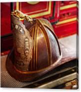Fireman - Hat - Commander  Canvas Print