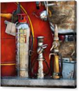 Fireman - An Assortment Of Nozzles Canvas Print