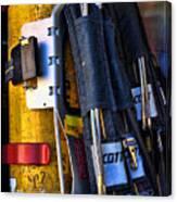 Fireman Gear Canvas Print