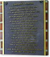 Fireman's Prayer Canvas Print