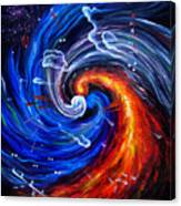 Firestorm Dancing With The Wind  Canvas Print