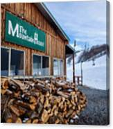 Firewood Ready To Burn In Fire Place Canvas Print