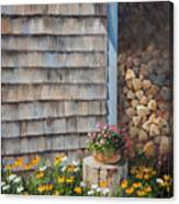 Firewood Shed					 Canvas Print
