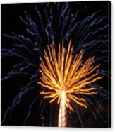Firework Blue And Gold Canvas Print