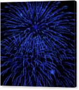 Firework Blues Canvas Print