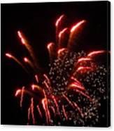 Firework Lights Of The City Canvas Print