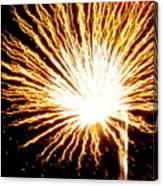 Firework Yellow Burst Canvas Print